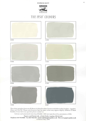 Greys - from Papers and Paints' 1950s Range