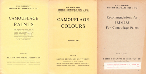 British Standards for Camouflage Paints
