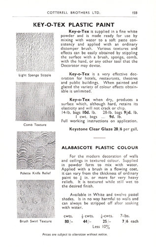 Key-O-Tex Plastic Paint