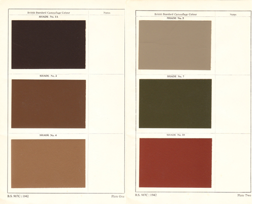 British Standard Camouflage Colours 1