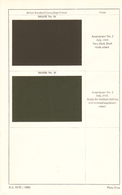 British Standard Camouflage Colours 3