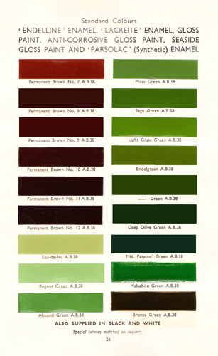 National Trust Paint Colour Chart