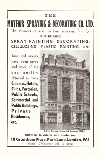 Mayfair Spray Painting 1953