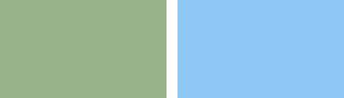 Pea Green and Sky Blue