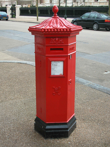 Victorian Post Box - Post Office Red