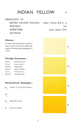 Wilson Colour Chart - Indian Yellow