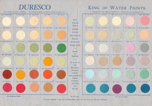 Duresco Colour Card