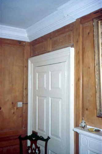Painted Cornice & Stripped Panelling