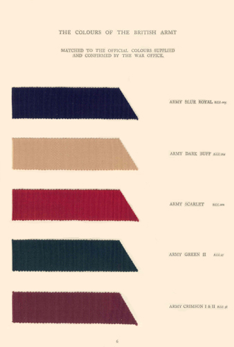 Traditional British Colours - Army