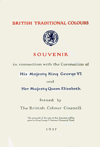 Traditional British Colours - frontispiece