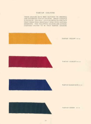 Traditional British Colours - tartan