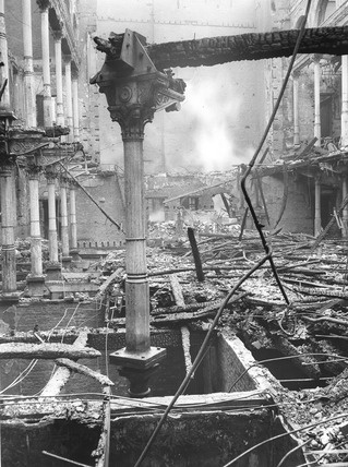 Holborn Viaduct Bomb Damage 1941