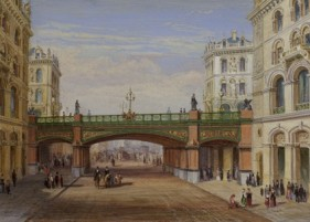 Holborn Viaduct - Presentation Watercolour
