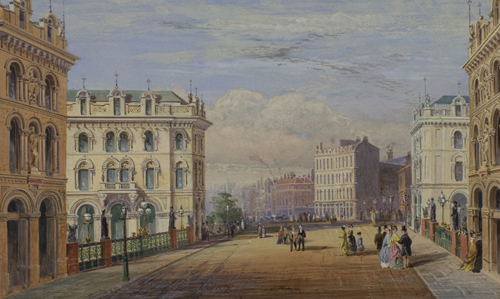 Holborn Viaduct - Presentation Watercolour (upper)