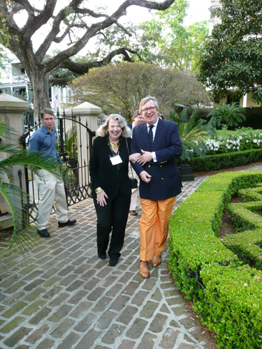 Tom Savage & Jean Helms at the Calhoun Mansion