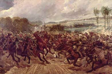 Charge of the 9th Lancers by Richard Caton Woodville