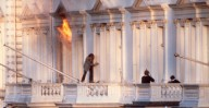 Sim Harris escaping from the Iranian Embassy Siege