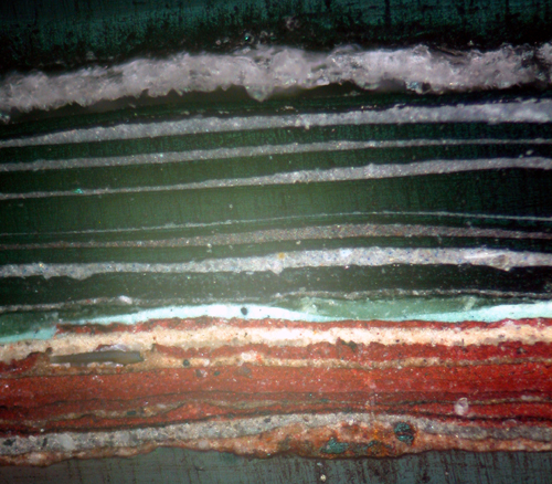 Photomicrograph of Ground Level Railings