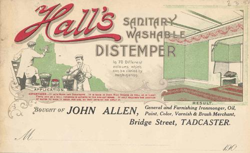 Hall's Washable Distemper