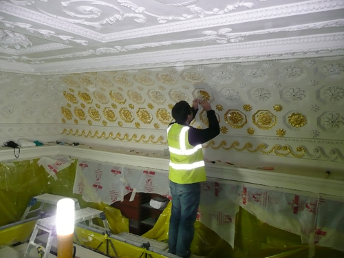 Stowe - Library - Gilding