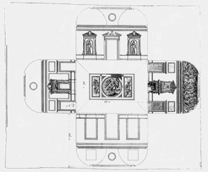 Kent Drawing with two niches