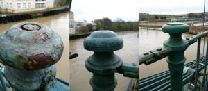 Victoria Bridge, Bath - Post Tops