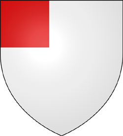 Argent a Canton Gules