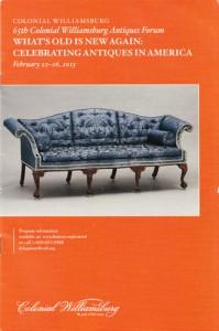 CW Antiques Forum Programme Cover