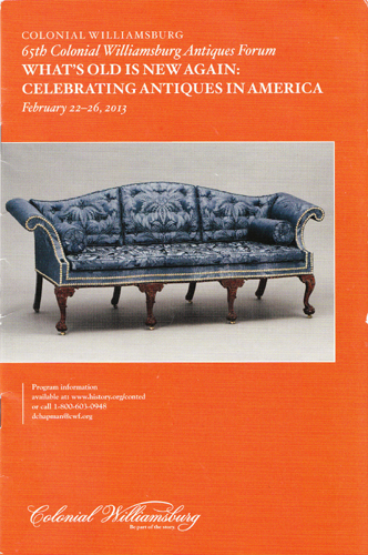 CW Antiques Forum Programme Cover