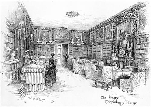 Cassiobury Library 1892