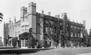 Cassiobury House was a country house, now demolished, which was in Cassiobury Park, in Watford, England.  Originally a Tudor building, dating from 1546 for Sir Richard Morrison and later owned by the Earls of Essex, it was demolished in 1927.  The contents and many of the elements of the house were sold and some made their way to the USA. I have been asked to examine a house in Upstate New York that was apparently built with a number of these fragments.