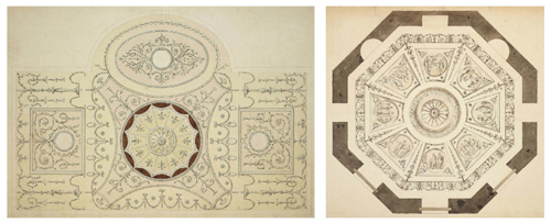 Robert Taylor - Designs for the Ceilings of the Dining and Octagon Rooms