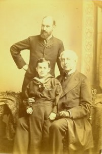 John_Gregory_Crace,_designer,_with_his_son_and_grandson