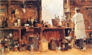 painter's workshop - Cornelis Vreedenburgh