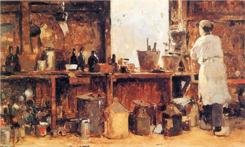painter's workshop - Cornelis Vreedenburgh