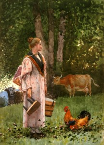 The Milk Maid by Winslow Homer 1878