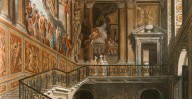 Hampton Court - Kings Staircase 1819 - WH Pyne
