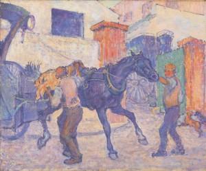 Robert Bevan - The Cab Horse