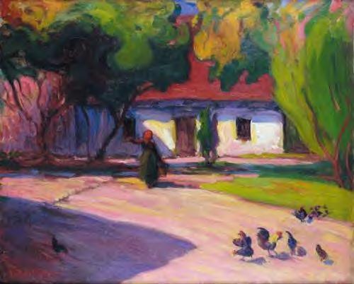 Robert Bevan - The Courtyard
