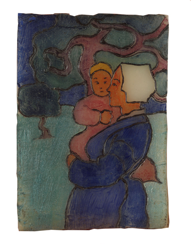 Robert Bevan - Breton Mother and Child - Wax