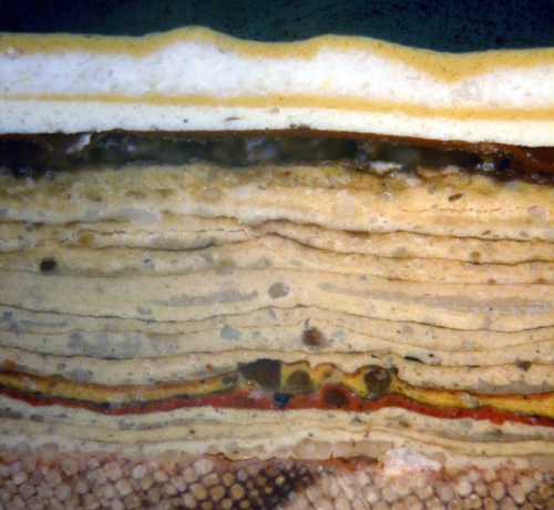 Cross Section of Paint from the Stairs