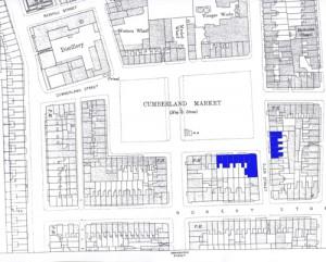 Buildings seen in Gilman Drawing