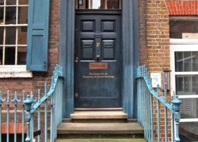 SPAB Door - Thanks to Spitalfields Life