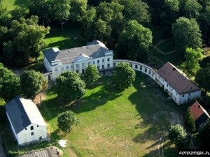 Aerial view of the Slubice Palace