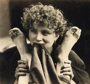 Oscar Reijlander. Woman Holding a Pair of Feet.
