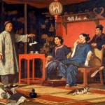 John Hodgson. Chinese Ladies Looking at European Curiosities