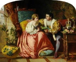 David Wilkie Wynfield. Henry VIII and Anne Boleyn.