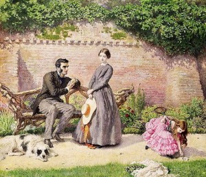 Frederick Walker. Rochester and Jane Eyre.