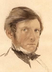 John Ruskin - Self portrait.