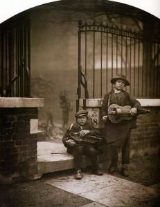 Camille Silvy. Street Musicians in Porchester Terrace.